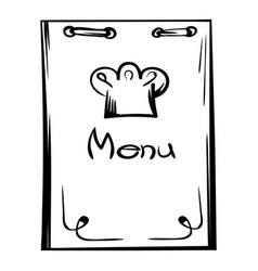 restaurant menu icon cartoon vector image
