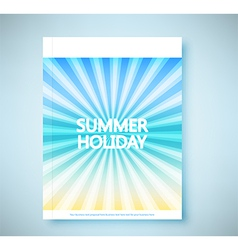 Summer rays holiday vintage on light sea report vector image