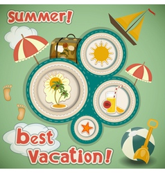 Summer Vacation Travel Card vector image