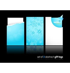 winter gift cards vector image vector image