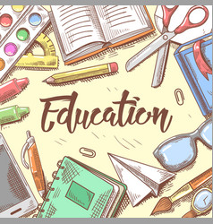 back to school education concept hand drawn vector image vector image