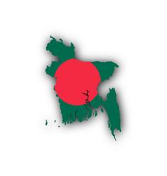 map and flag of bangladesh vector image