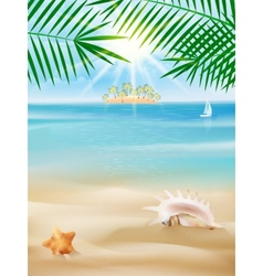 Summer tropical poster design vector image vector image