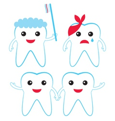 teeth characters vector image vector image