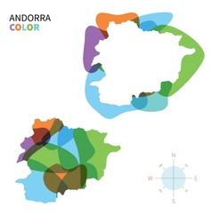 Abstract color map of Andorra vector image