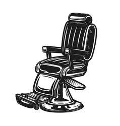 Barber chair isolated on white background vector