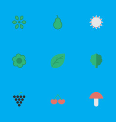set of simple gardening icons elements fungus vector image vector image