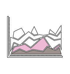 silhouette color sections of statistical graphs in vector image vector image