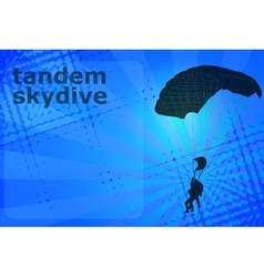 skydiving tandem vector image
