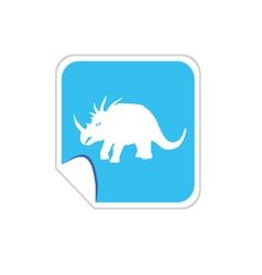 baby dinosaur on blue vector image