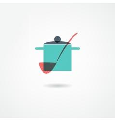 crockery icon vector image
