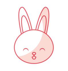 cute shadow rabbit cartoon vector image vector image