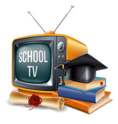 education channel vector image vector image