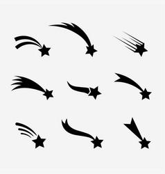 falling stars set vector image vector image