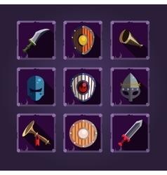 Game icons Viking emblem vector image