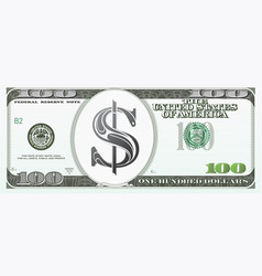 100 dollars as cartoon money vector