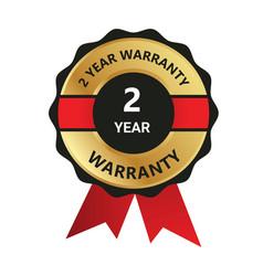 2 year warranty badge warranty certificate yea vector