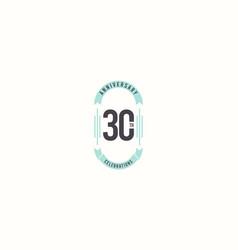 30 th anniversary celebrations elegant template vector