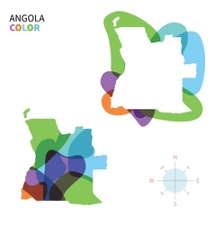 Abstract color map of Angola vector