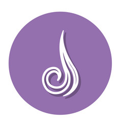 abstract line air symbol on a circle vector image
