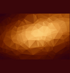 abstract polygon background with brown shades vector image