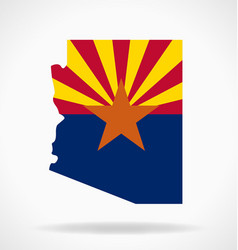 arizona az state flag map vector image