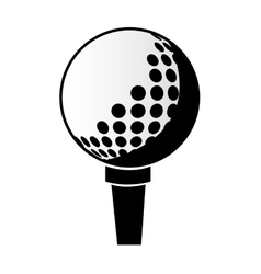 Black and white golf ball graphic vector