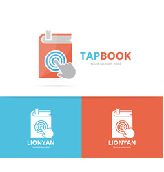 book and click logo combination novel and vector image vector image