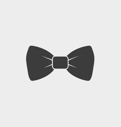 Bow icon isolated on white background art vector