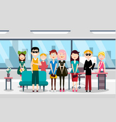 busines team in office group of people vector image