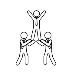 Business teamwork pictogram vector