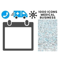 Calendar Frame Icon with 1000 Medical Business vector image