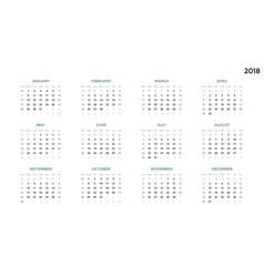 Calendar infographic table chart presentation vector
