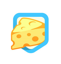 cheese maasdam - logo vector image