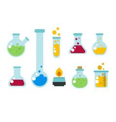 Chemical laboratory flask glassware tube liquid vector