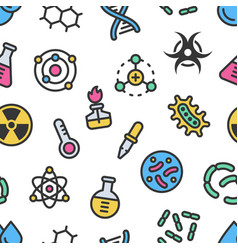 chemistry science details colorful seamless vector image
