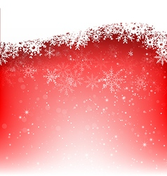 Christmas snowflake and starlight abstract vector image