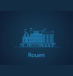 cities of normandy rouen european houses vector image