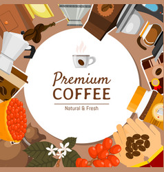 coffee shop round pattern vector image