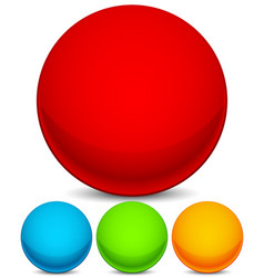 colorful sphere elements icons bright red blue vector image
