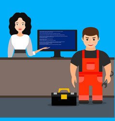 computer repair vector image