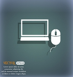 Computer widescreen monitor mouse sign icon On the vector