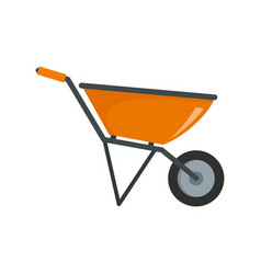Construction wheelbarrow icon flat style vector