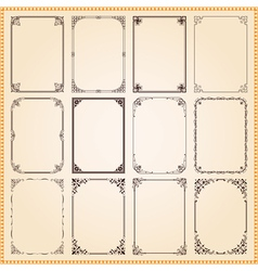 Decorative vintage frames and borders vector