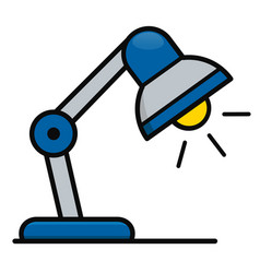 desk lamp icon design vector image