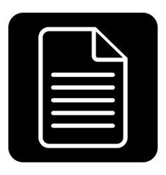 Document icon on white vector