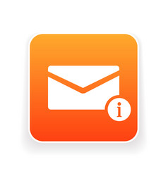 email icon with information sign vector image
