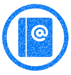 Emails rounded grainy icon vector
