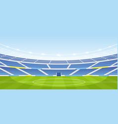 Empty sports stadium vector