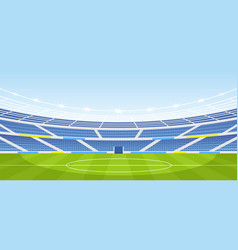 empty sports stadium with vector image